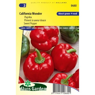Paprika zaden California Wonder